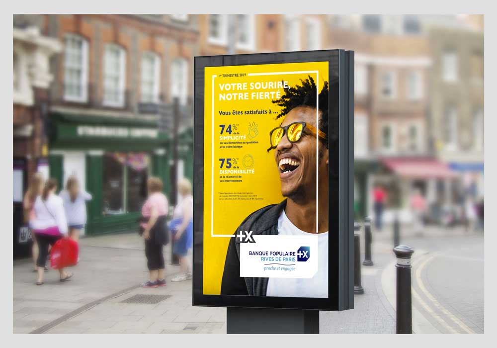 Campagne d'affiche Banque Populaire Rives de Paris