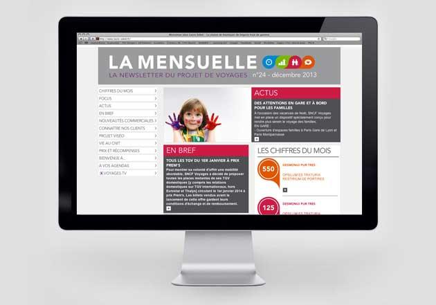 SNCF Voyages – Newsletter La Mensuelle