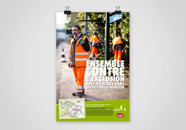 SNCF – Campagne d'information lutte contre l'exclusion