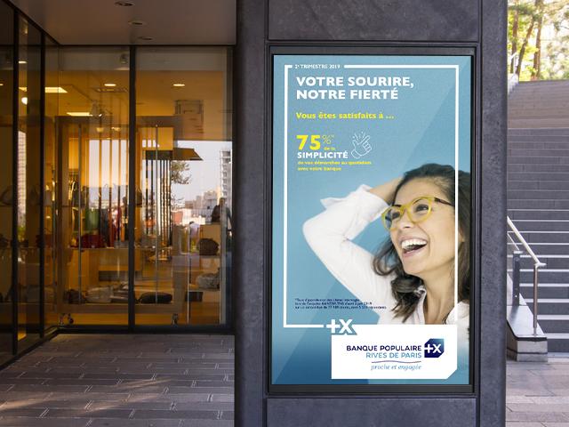 Banque Populaire Rives de Paris – Campagnes d'affiches satisfaction client